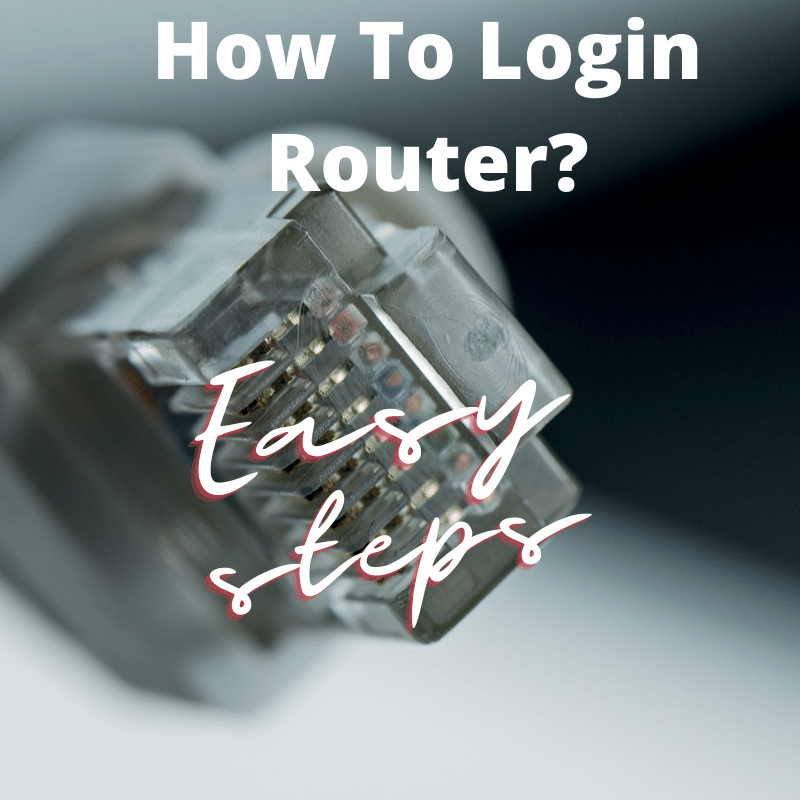 How to login router? written on its image