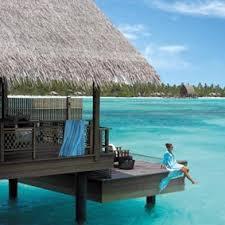 a girl enjoy on  romantic resort of Maldives
