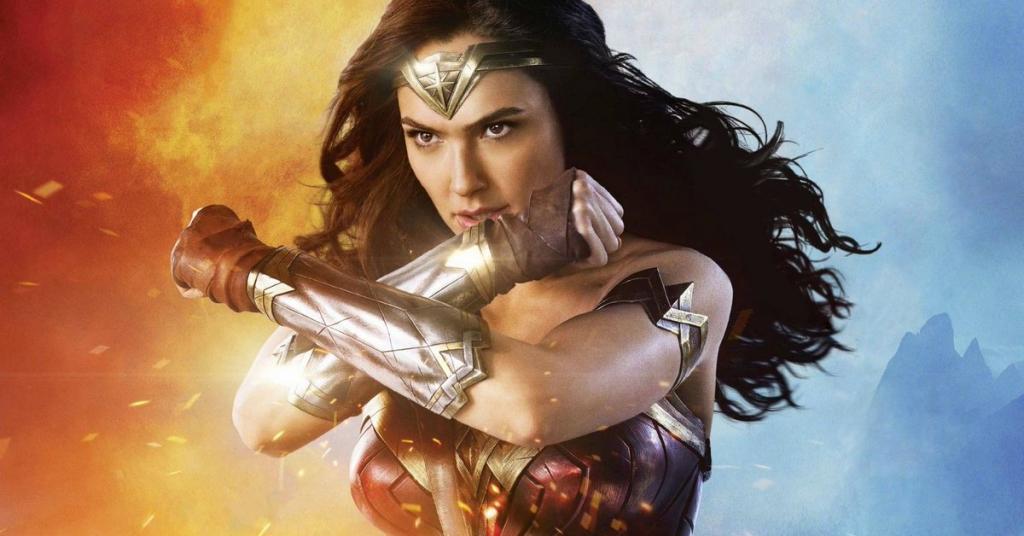 gal gadot posing in Wonder Woman 1984