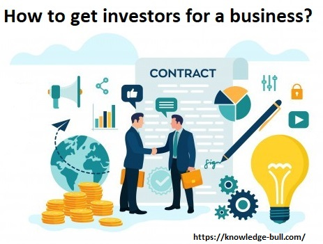 How to get investors for a business? displaying a pic in which 2 people are shaking their hands