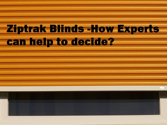 Ziptrak Blinds on awindow