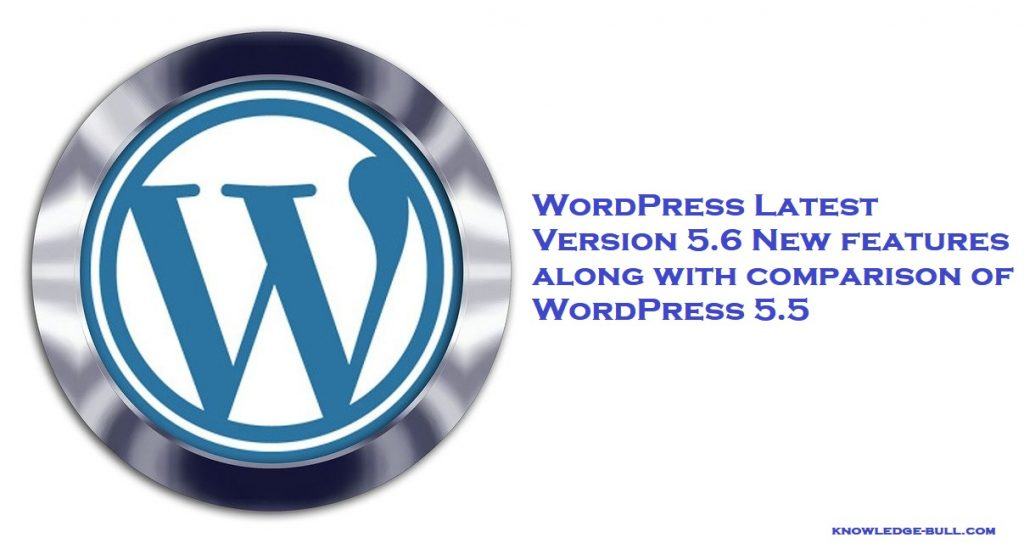WordPress 5.6 update