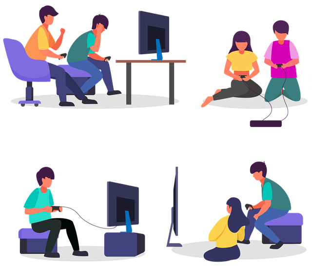 parents with their children playing video games after applying tips