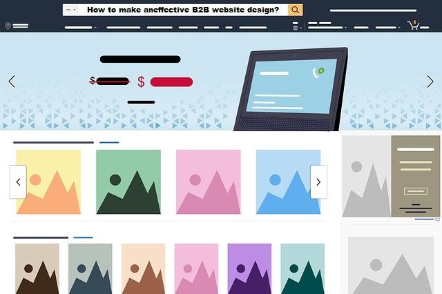 a complete B2B website design