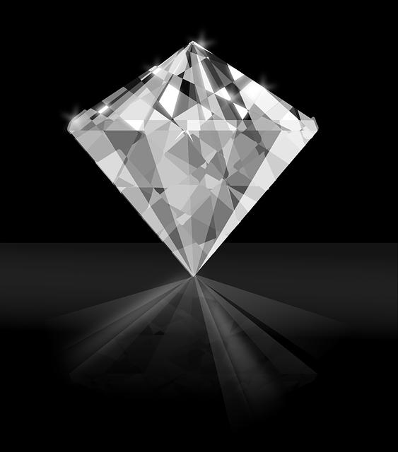 a beautiful white diamond standing straight
