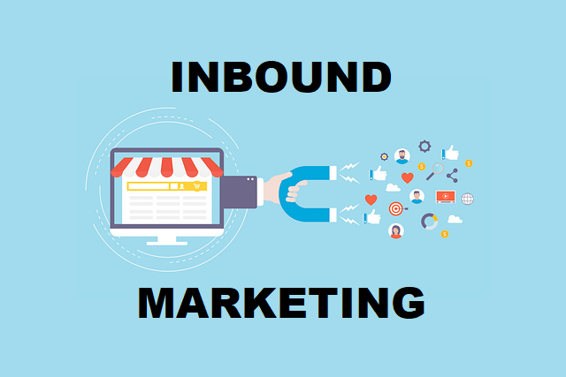 A hand with magnet appearing from the site illustrating inbound marketing