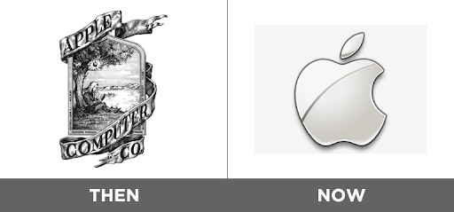 Apple company new and old logo