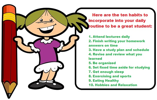10 Daily Habits To Make Yourself A Great Student